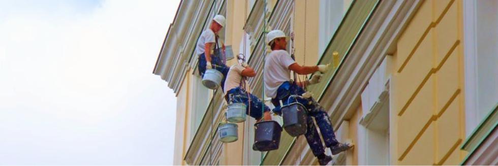 Покраска фасадов зданий с гарантией 24 месяца
