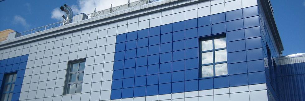 Вентилируемый фасад с облицовкой из металлокассет