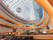 Афимолл Сити: Герметизация швов купола торгового центра
