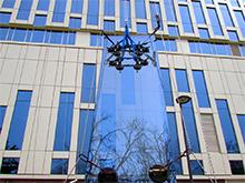 БЦ Lotte на Профсоюзной: Мойка фасадного остекления, ремонт стеклопакетов