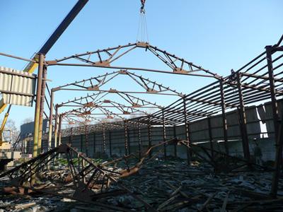 Демонтаж и вывоз металлоконструкций